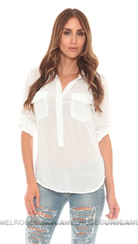 Bella Dahl White Pocket PopOver