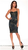 Mandalay Midnight Lace and Sequin Dress