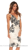 Mandalay Cream Ornamental Sequin Dress