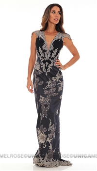 Mandalay Navy Long Gown