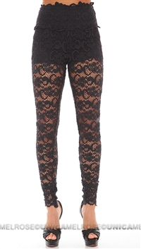 Nightcap Dark Navy Blue Dixie Lace Pant