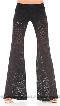 Nightcap Black Lace Wide Leg Pants