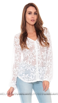 NightCap White Bloom Blouse