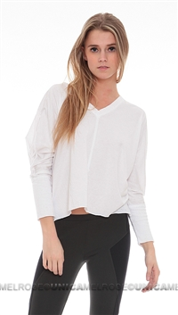 Chaser White Deep Oversized V-Neck