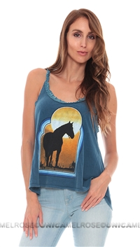 Chaser Blue 'Horse Lovers' Sunset  Tank