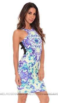 Donna Mizani Floral Mini Dress