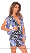 Savee Couture Blue Zebra Dress