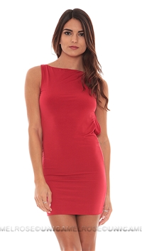 Savee Couture Red Halter Mini Dress