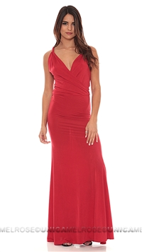Savee Couture Red Maxi Dress