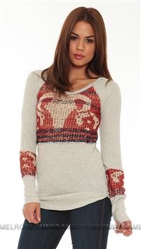 Free People Ivory Bambi Swit Top