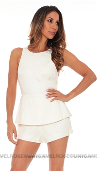 Finders Keepers Ivory Stranger in Paradise Dress