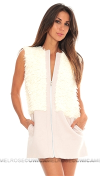 For Love & Lemons Natural Alpine Vest