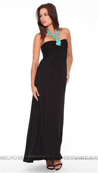 Sky Black Hardila Long Dress