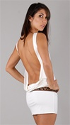 Leiluna Collection Sleeveless Classic Backless White Dress