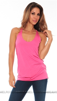 Leiluna Collection Bright Pink Flimsy Tank