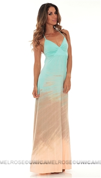 Michelle Jonas Turquoise Tie Dye Maxi Dress