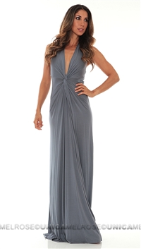 Mijo Cool Grey Long Dress