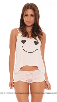 Wildfox Pink Je T'aime Cami Set