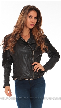MuuBaa Black Xera Quilted Biker Jacket