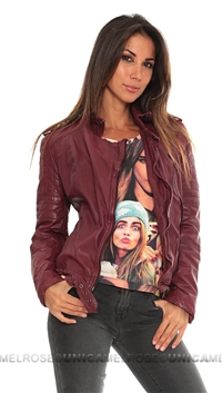 MuuBaa Red Nido Quilted Biker Jacket