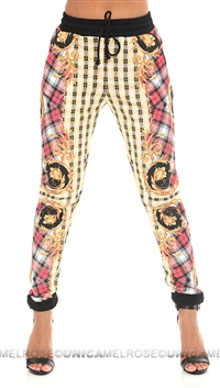 Mink Pink Multi Print 'Over Indulge' Track Pants
