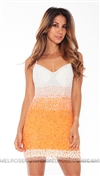 Musani Couture Orange Babito Sequence Dress