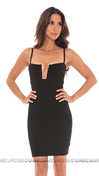 Nookie Black Stadium Bustier Dress