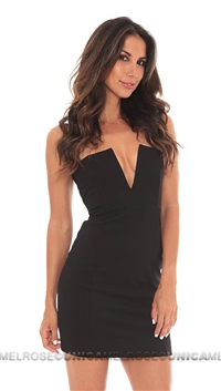 Nookie Black Strapless Stadium Bustier Dress