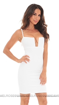 Nookie White Stadium Bustier Dress