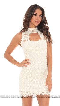 NightCap Ivory Lace Chapel Dress