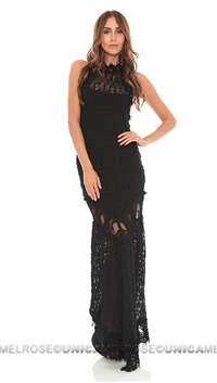 NightCap Black Florence Halter Gown