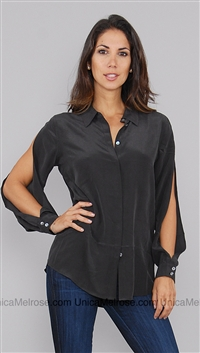 Equipment Black Button Up Shirt
