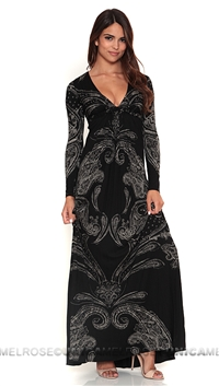 Sky Black Murchad Long Dress