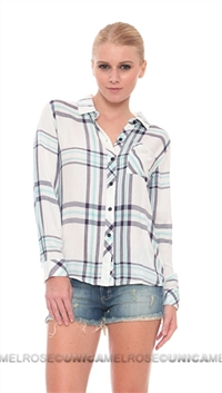 Rails Hunter Rayon Button Down