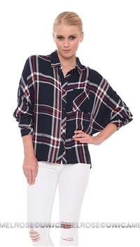 Rails Patriotic Maddox Rayon Dolman Button Down