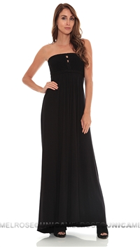 Sky Black Grifina Strapless Long Dress