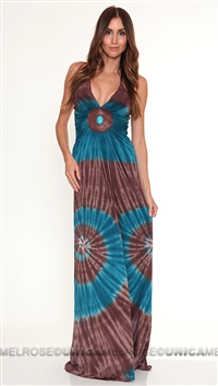 Sky Brown Halyna Maxi Dress