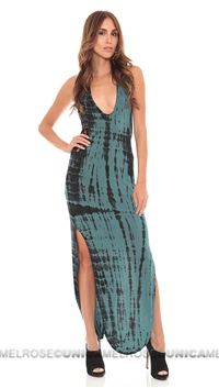 Indah Tie Dye Atlantic Crochet Long Maxi Dress
