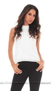 For Love & Lemons White Justines Tank