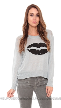 Townsen Denim Blue Lips Sweater