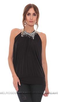 Savee Couture Black Sleeveless Top