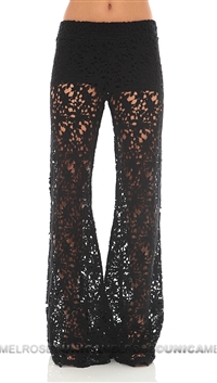 NightCap Black Crotchet Bell Bottoms