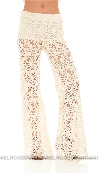 NightCap Natural Crotchet Bell Bottoms