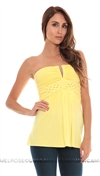 Sky Yellow Artemus Braided Top