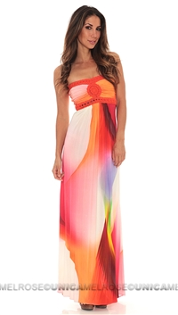 Sky Coral Sabi Tube Dress.