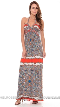 Sky Multi Color Long Maxi Dress
