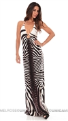 Sky Zebra Seaqa Maxi Long Dress