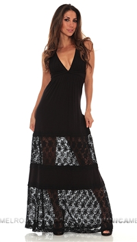 Sky Black Shakira Long Dress
