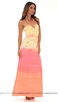 Sky Yellow Punch Maxi Dress