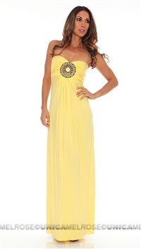 Sky Yellow Slaman Tube Dress